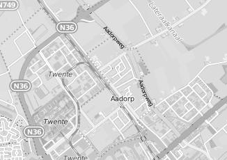 Kaartweergave van Dooren in Aadorp