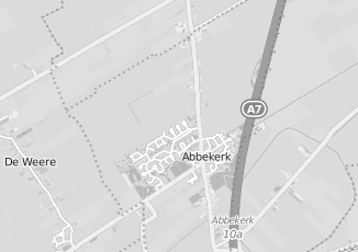 Kaartweergave van Dam in Abbekerk