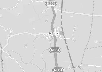 Kaartweergave van Holwerda in Adorp