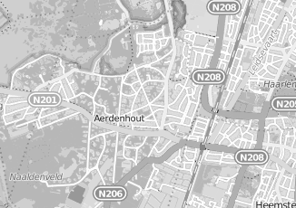 Kaartweergave van Bodegom in Aerdenhout