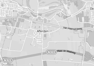 Kaartweergave van As in Afferden Gelderland