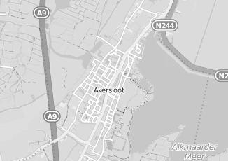 Kaartweergave van Bruinenberg in Akersloot