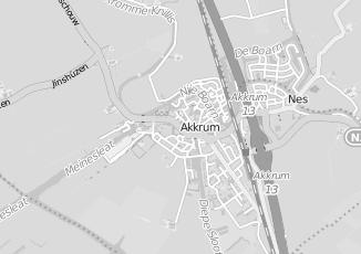 Kaartweergave van Postma in Akkrum