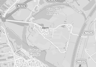 Kaartweergave van Albert heijn in Alem