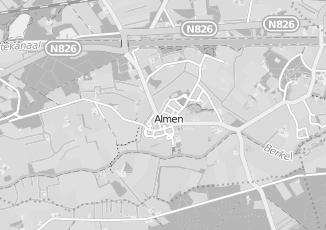Kaartweergave van Piet zoomers in Almen