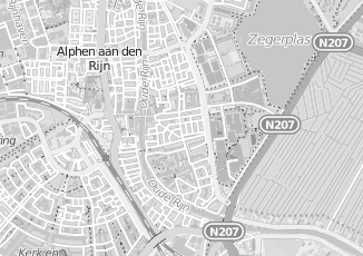 Kaartweergave van Albers in Alphen Aan Den Rijn