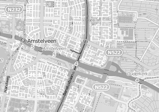 Kaartweergave van Hoogeveen in Amstelveen