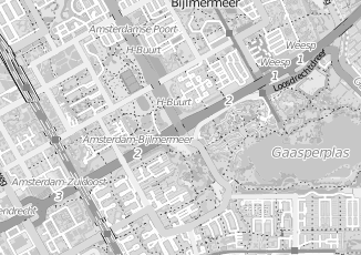 Kaartweergave van Dienstverlening in Amsterdam Zuidoost