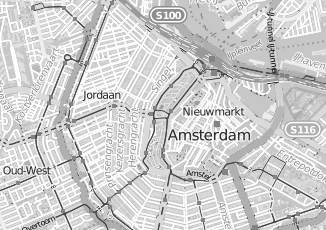 Kaartweergave van Bouwens in Amsterdam