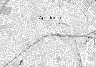 Kaartweergave van Kerkdijk in Apeldoorn