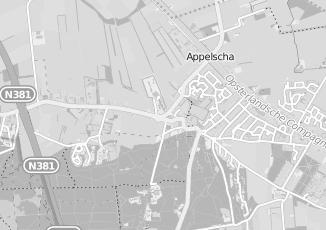 Kaartweergave van Hoogeveen in Appelscha