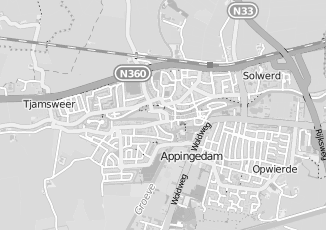 Kaartweergave van Hamminga in Appingedam