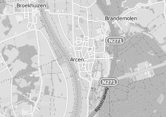 Kaartweergave van Nissan in Arcen