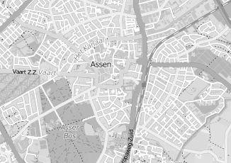 Kaartweergave van Bruin in Assen