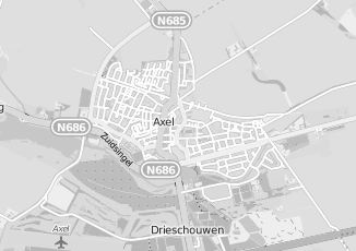 Kaartweergave van Supermarkt in Axel