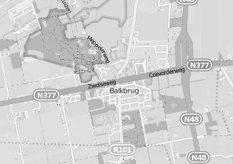 Kaartweergave van Bouwman in Balkbrug