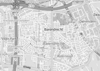 Kaartweergave van Groeneweg in Barendrecht