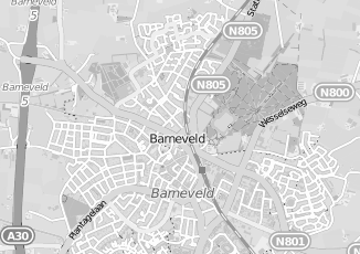 Kaartweergave van Unive in Barneveld