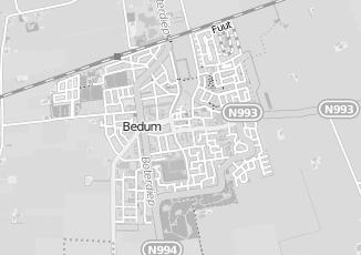 Kaartweergave van Bakker in Bedum
