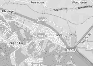 Kaartweergave van Baal in Beek Gelderland