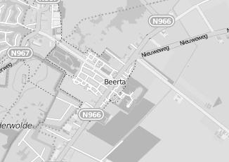Kaartweergave van Albert heijn in Beerta