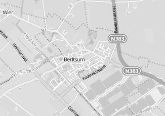 Kaartweergave van Terpstra in Berltsum