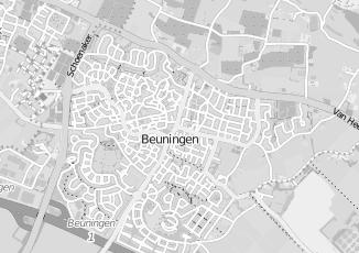 Kaartweergave van Rossum in Beuningen Gelderland