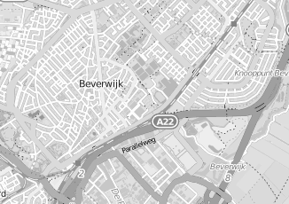 Kaartweergave van Hoogkamer in Beverwijk