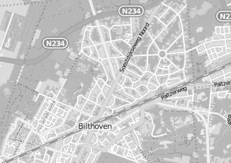 Kaartweergave van Bosman in Bilthoven