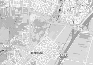 Kaartweergave van Bakker in Blaricum