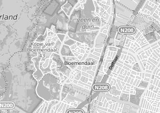 Kaartweergave van Metz in Bloemendaal