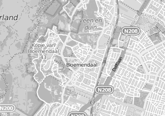 Kaartweergave van Hornman in Bloemendaal