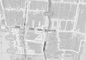 Kaartweergave van Burggraaf in Boskoop