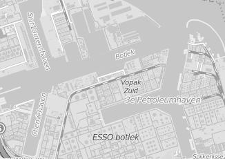 Kaartweergave van Akzo nobel in Botlek Rotterdam