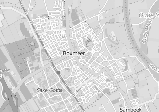 Kaartweergave van Albers in Boxmeer