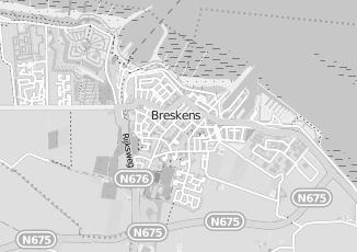 Kaartweergave van Caluw in Breskens