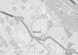 Kaartweergave van Bakker in Brielle