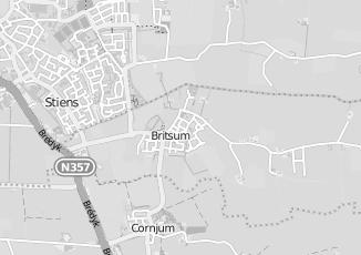 Kaartweergave van Dijkstra in Britsum