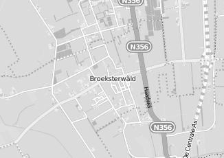 Kaartweergave van Bouwmaterialen in Broeksterwald