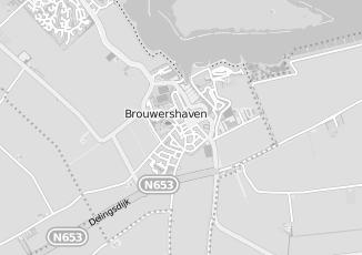 Kaartweergave van Bekker in Brouwershaven