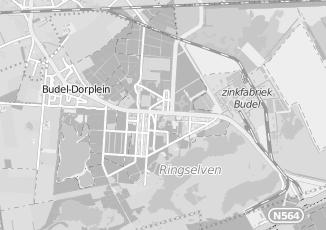 Kaartweergave van Berg in Budel Dorplein