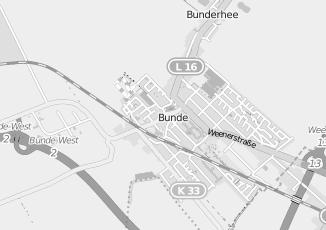 Kaartweergave van Hamers in Bunde