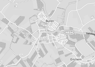 Kaartweergave van Gemeentehuis in Buren Gelderland