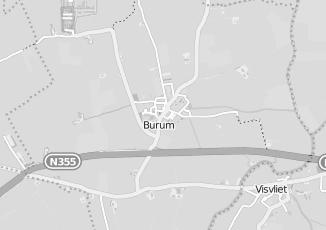 Kaartweergave van Hooghiem in Burum