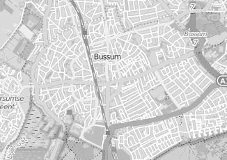 Kaartweergave van Rossem in Bussum