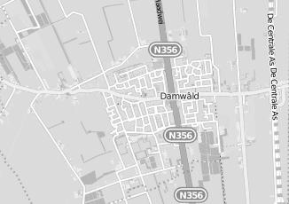 Kaartweergave van M visser in Damwald