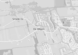 Kaartweergave van Milieustraat in De Wilgen