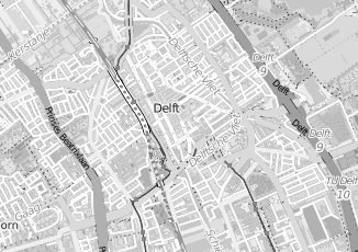 Kaartweergave van Overbeek in Delft