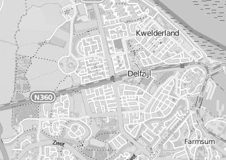 Kaartweergave van Dyk in Delfzijl
