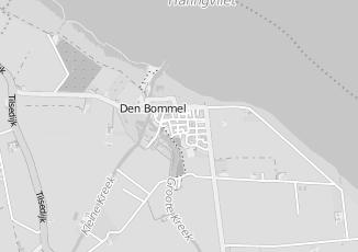 Kaartweergave van De boed h in Den Bommel
